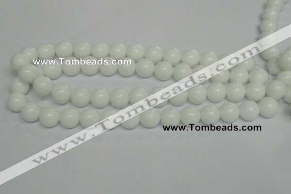 CPB06 15.5 inches 14mm round white porcelain beads wholesale