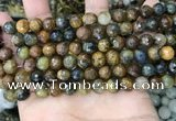CPB1066 15.5 inches 6mm faceted round natural pietersite beads