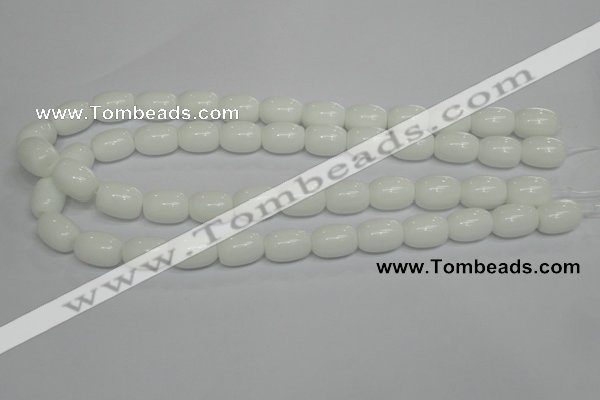 CPB12 15.5 inches 12*16mm drum white porcelain beads wholesale