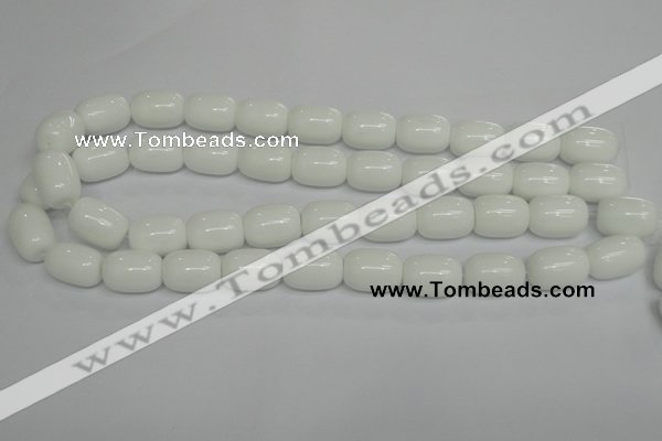 CPB14 15.5 inches 13*18mm drum white porcelain beads wholesale