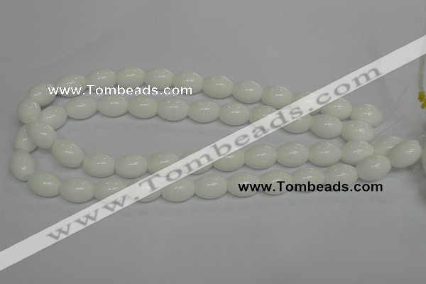 CPB18 15.5 inches 12*16mm rice white porcelain beads wholesale