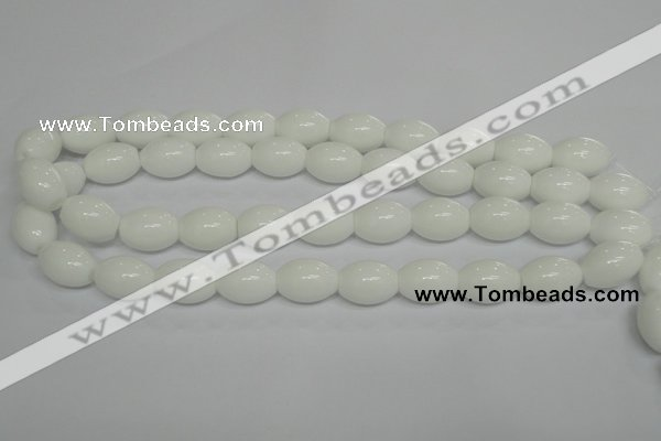 CPB19 15.5 inches 13*18mm rice white porcelain beads wholesale