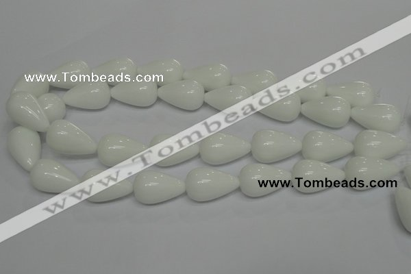 CPB26 15.5 inches 15*25mm teardrop white porcelain beads wholesale
