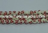CPB611 15.5 inches 6mm round Painted porcelain beads