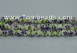 CPB623 15.5 inches 10mm round Painted porcelain beads