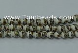 CPB641 15.5 inches 6mm round Painted porcelain beads