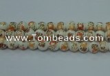 CPB674 15.5 inches 12mm round Painted porcelain beads