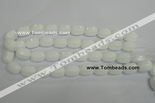CPB68 15.5 inches 15*20mm drum white porcelain beads wholesale