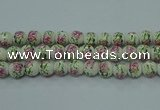 CPB685 15.5 inches 14mm round Painted porcelain beads