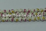 CPB695 15.5 inches 14mm round Painted porcelain beads