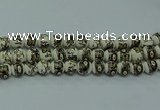 CPB714 15.5 inches 12mm round Painted porcelain beads