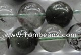 CPC06 15.5 inches 14mm round green phantom quartz beads wholesale