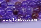 CPC601 15.5 inches 6mm round purple phantom quartz beads