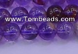 CPC602 15.5 inches 8mm round purple phantom quartz beads