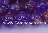 CPC603 15.5 inches 10mm round purple phantom quartz beads