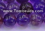CPC604 15.5 inches 12mm round purple phantom quartz beads