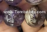 CPC615 15.5 inches 16mm round purple phantom quartz beads