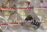 CPC653 15.5 inches 10mm round yellow phantom quartz beads