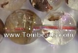 CPC655 15.5 inches 14mm round yellow phantom quartz beads
