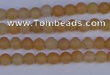 CPI300 15.5 inches 4mm round matte red aventurine beads wholesale
