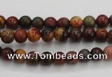 CPJ101 15.5 inches 6mm round picasso jasper gemstone beads wholesale