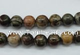 CPJ153 15.5 inches 8mm round picasso jasper gemstone beads