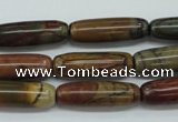 CPJ160 15.5 inches 8*25mm cylinder picasso jasper gemstone beads