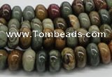 CPJ18 15.5 inches 5*8mm rondelle picasso jasper beads wholesale