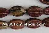 CPJ371 15.5 inches 10*18mm starfruit picasso jasper gemstone beads