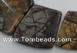 CPJ379 Top drilled 18*25mm - 26*32mm trapezoid picasso jasper beads