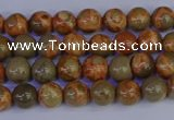 CPJ460 15.5 inches 4mm round African picture jasper beads