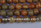 CPJ461 15.5 inches 6mm round African picture jasper beads