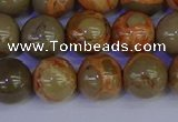 CPJ464 15.5 inches 12mm round African picture jasper beads