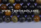 CPJ471 15.5 inches 6mm round black picasso jasper beads wholesale