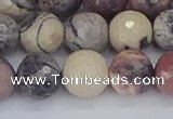 CPJ613 15.5 inches 10mm faceted round purple striped jasper beads