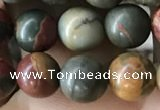 CPJ634 15.5 inches 6mm round picasso jasper beads wholesale