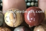 CPJ637 15.5 inches 12mm round picasso jasper beads wholesale