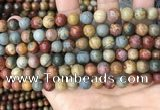 CPJ672 15.5 inches 8mm round picasso jasper beads wholesale