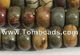 CPJ677 15.5 inches 4*6mm rondelle picasso jasper beads wholesale