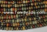 CPJ68 15.5 inches 2*4mm rondelle picasso jasper gemstone beads