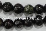 CPM04 15.5 inches 12mm round plum blossom jade beads wholesale