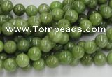CPO01 15.5 inches 6mm round olivine gemstone beads wholesale