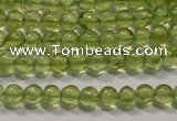 CPO101 15 inches 3mm round natural peridot beads wholesale