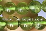 CPO132 15.5 inches 6.5mm - 7mm round natural peridot beads wholesale