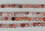 CPQ21 15.5 inches 4mm faceted round natural pink quartz beads