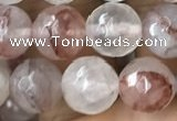 CPQ313 15.5 inches 10mm faceted round pink quartz beads wholesale