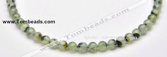 CPR02 AB grade 8mm round natural prehnite stone beads Wholesale