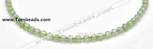 CPR04 A+ grade 6mm faceted round natural prehnite stone beads