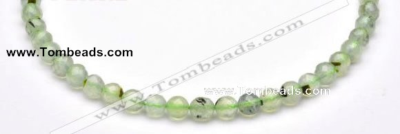CPR05 A+ grade 8mm faceted round natural prehnite stone beads