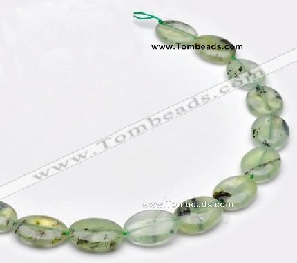 CPR10 A grade 15*20mm oval natural prehnite gemstone beads